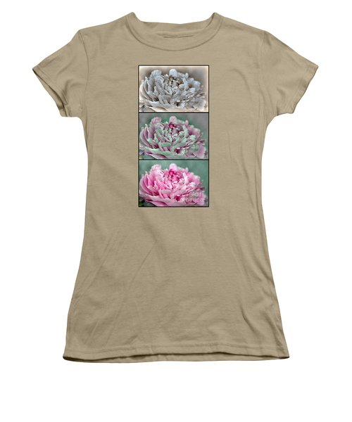 Peony Named Shirley Temple Women's T-Shirt (Junior Cut) by J McCombie