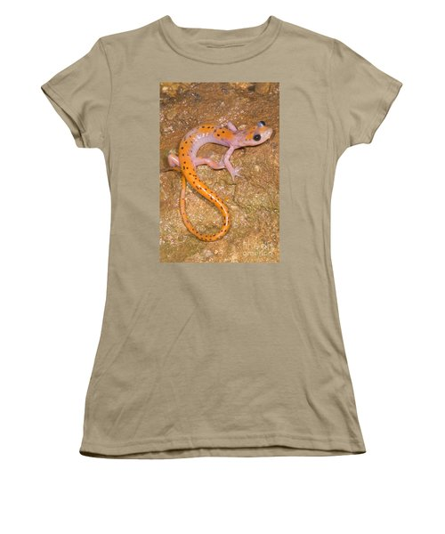 Cave Salamander Women's T-Shirt (Junior Cut) by Dante Fenolio