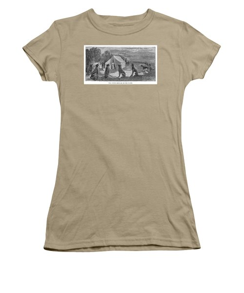 Mango Hummingbird Women's T-Shirt (Junior Cut) by Granger