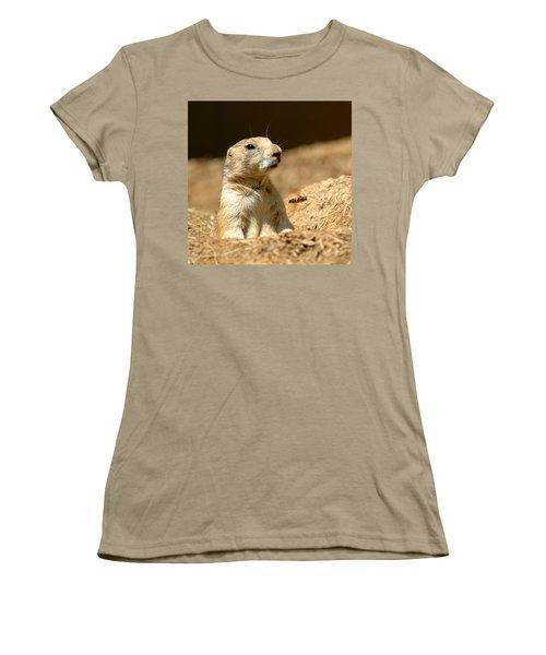 Prarie Dog Bee Alert Women's T-Shirt (Junior Cut) by LeeAnn McLaneGoetz McLaneGoetzStudioLLCcom