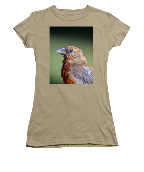 Red Crossbill Women's T-Shirt (Junior Cut) by Derek Holzapfel