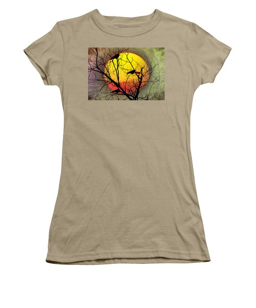 Three Blackbirds Women's T-Shirt (Junior Cut) by Bill Cannon