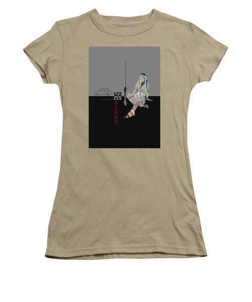 U2 Poster Women's T-Shirt (Junior Cut) by Naxart Studio