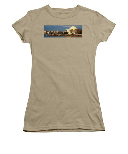 Panoramic View Of Jefferson Memorial Women's T-Shirt (Junior Cut) by Panoramic Images