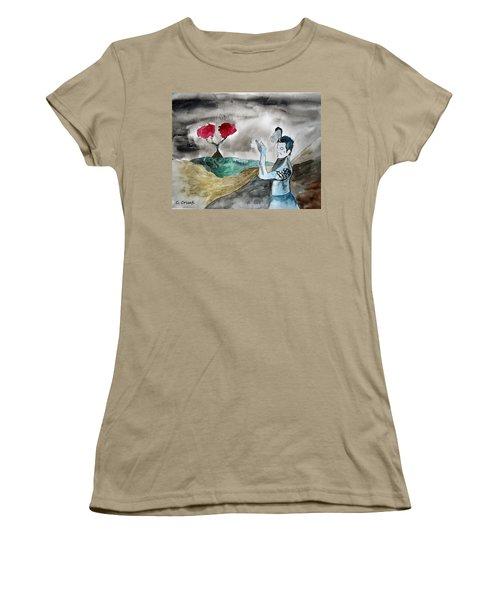 Scott Weiland - Stone Temple Pilots - Music Inspiration Series Women's T-Shirt (Junior Cut) by Carol Crisafi