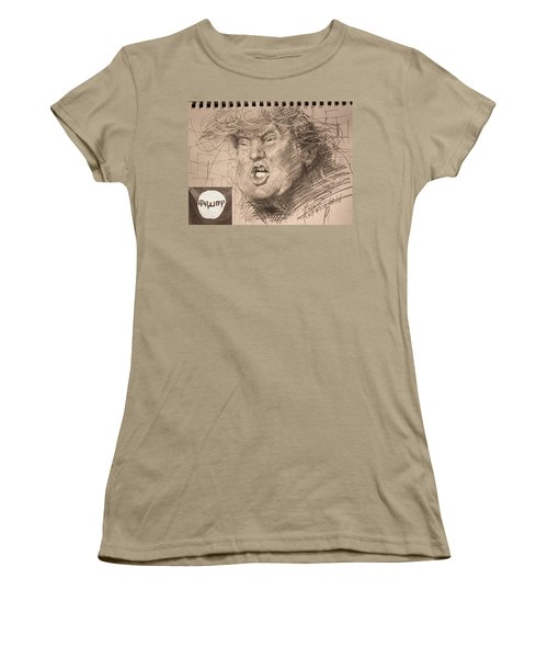Trump Women's T-Shirt (Junior Cut) by Ylli Haruni