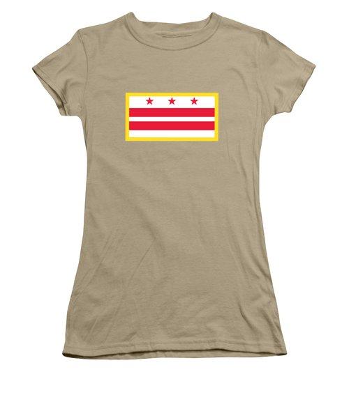 Washington, D.c. Flag Women's T-Shirt (Junior Cut) by Frederick Holiday