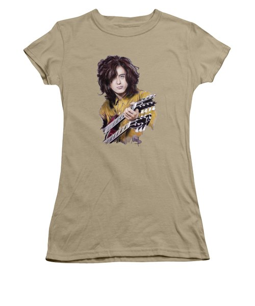 Jimmy Page Women's T-Shirt (Junior Cut) by Melanie D