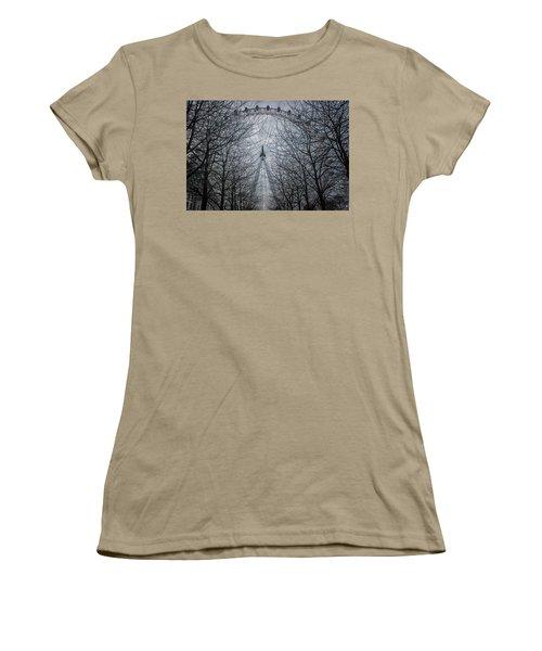 London Eye Women's T-Shirt (Junior Cut) by Martin Newman