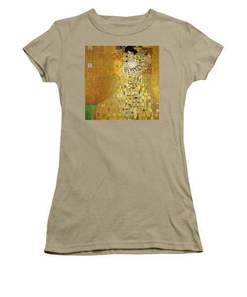 Portrait Of Adele Bloch-bauer I Women's T-Shirt (Junior Cut) by Gustav Klimt