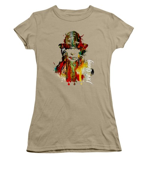 Neil Young Collection Women's T-Shirt (Junior Cut) by Marvin Blaine