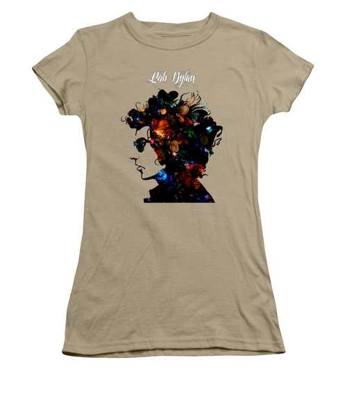 Bob Dylan Collection Women's T-Shirt (Junior Cut) by Marvin Blaine
