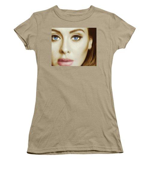 Adele Painting Circle Pattern 1 Women's T-Shirt (Junior Cut) by Tony Rubino