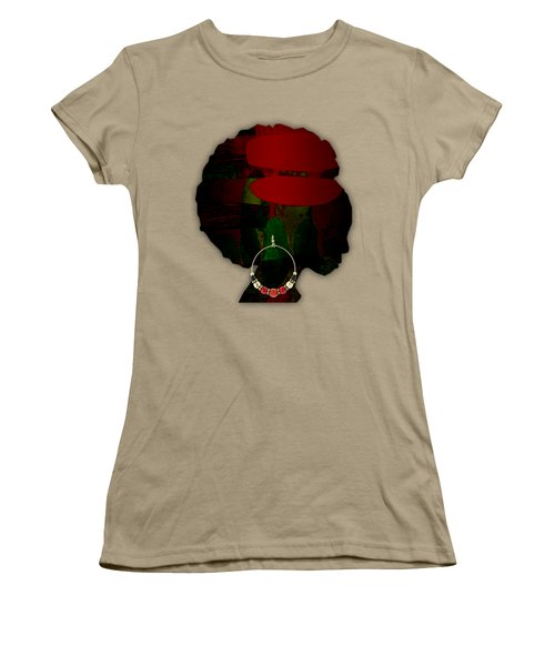 African Beauty Women's T-Shirt (Junior Cut) by Marvin Blaine