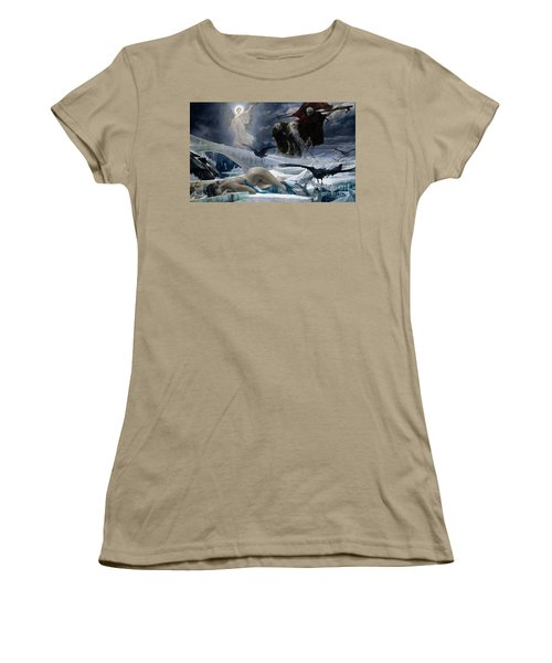 Ahasuerus At The End Of The World Women's T-Shirt (Junior Cut) by Adolph Hiremy Hirschl