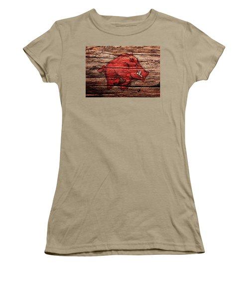 Arkansas Razorbacks 1a Women's T-Shirt (Junior Cut) by Brian Reaves