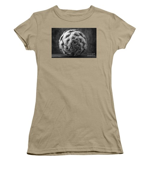 Artichoke Black And White Still Life Two Women's T-Shirt (Junior Cut) by Edward Fielding