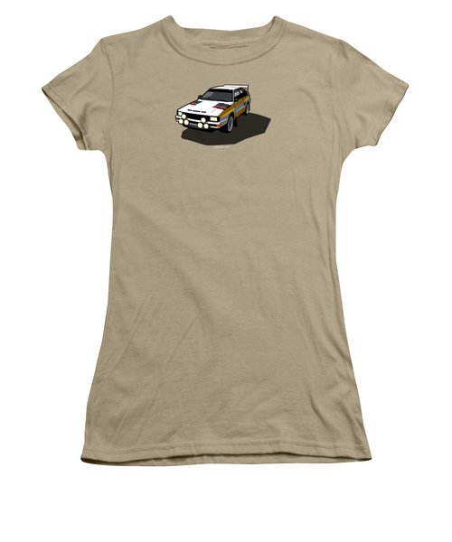 Audi Sport Quattro Ur-quattro Rally Poster Women's T-Shirt (Junior Cut) by Monkey Crisis On Mars