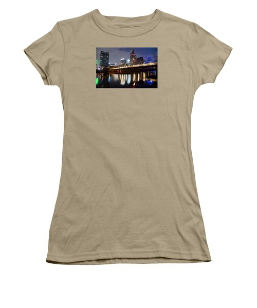 Austin From Below Women's T-Shirt (Junior Cut) by Frozen in Time Fine Art Photography