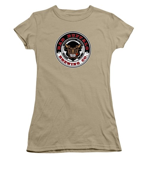 Bad Buffalo Brewing Women's T-Shirt (Junior Cut) by Christopher Williams