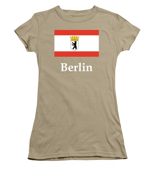 Berlin, Germany Flag And Name Women's T-Shirt (Junior Cut) by Frederick Holiday