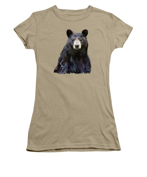 Black Bear Women's T-Shirt (Junior Cut) by Amy Hamilton