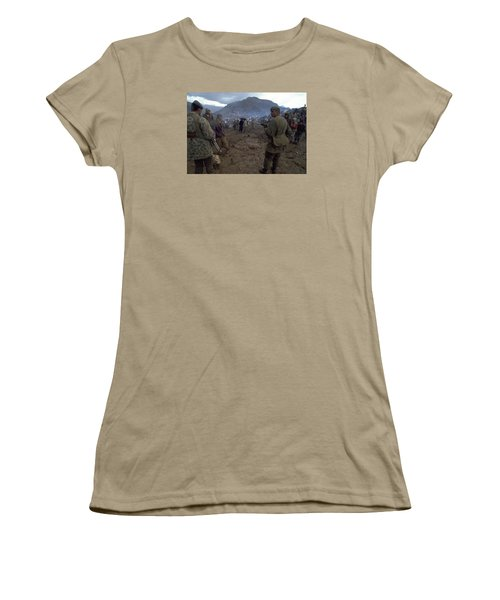 Women's T-Shirt (Junior Cut) featuring the photograph Border Control by Travel Pics