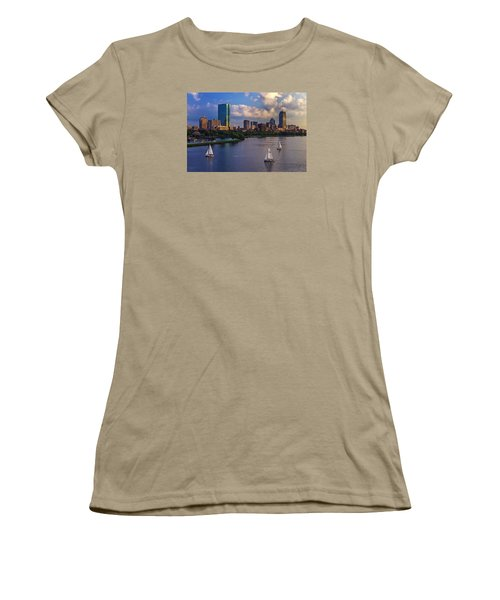Boston Skyline Women's T-Shirt (Junior Cut) by Rick Berk