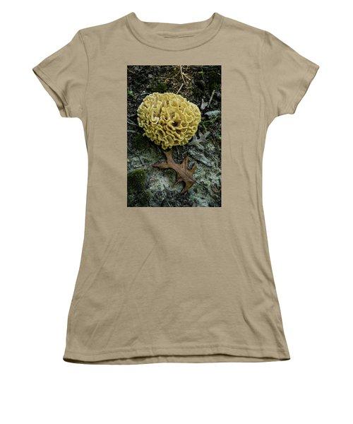 Brain Or Cauliflower Fungus Women's T-Shirt (Junior Cut) by Douglas Barnett