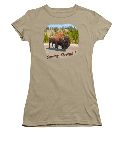 Buffalo Women's T-Shirt (Junior Cut) by John M Bailey