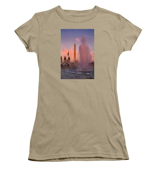 Dc Sunset Women's T-Shirt (Junior Cut) by Betsy Knapp