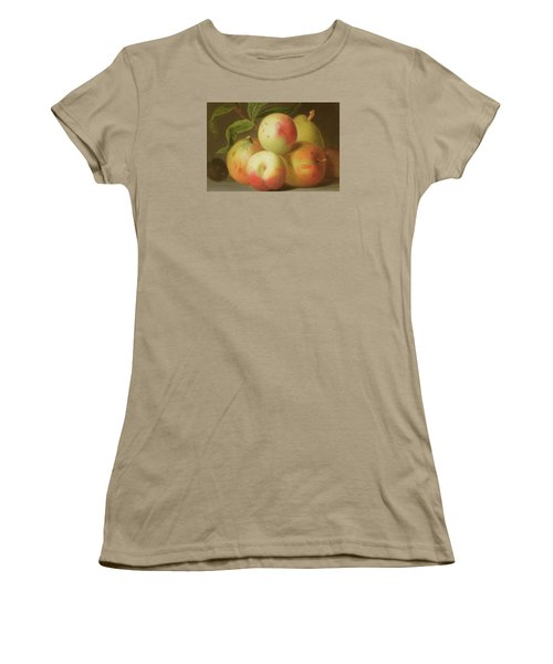 Detail Of Apples On A Shelf Women's T-Shirt (Junior Cut) by Jakob Bogdany