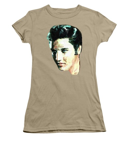 Elvis Women's T-Shirt (Junior Cut) by James Shepherd