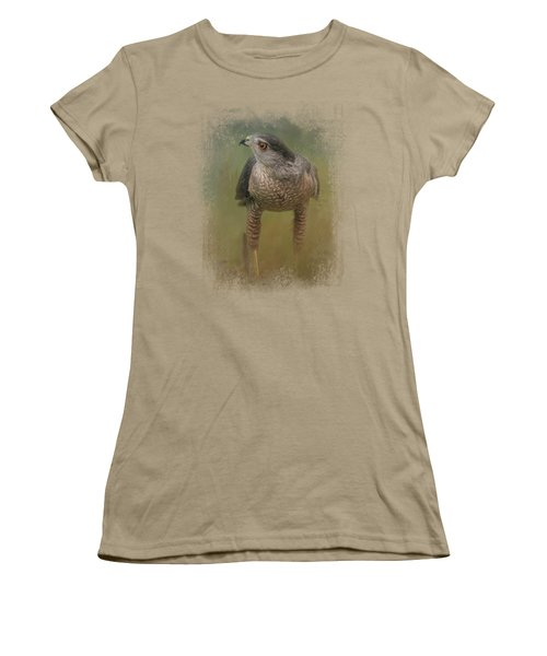 Evening Hawk Women's T-Shirt (Junior Cut) by Jai Johnson