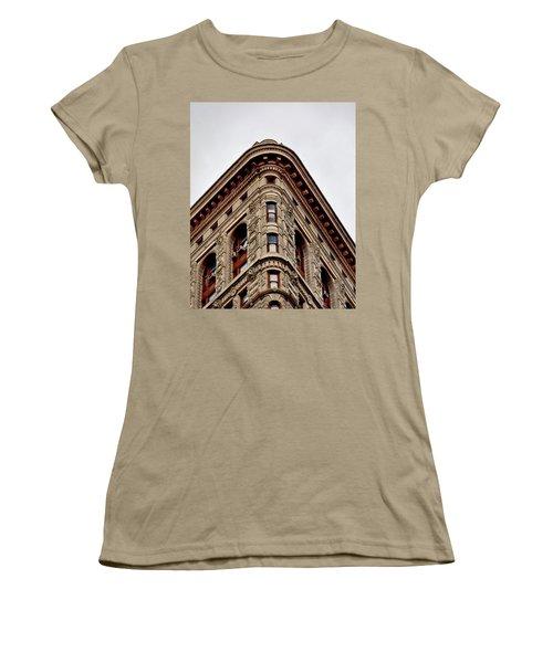 Flatiron Building Detail Women's T-Shirt (Junior Cut) by Sandy Taylor