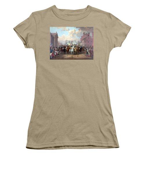 General Washington Enters New York Women's T-Shirt (Junior Cut) by War Is Hell Store