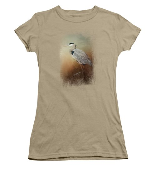Heron At The Inlet Women's T-Shirt (Junior Cut) by Jai Johnson