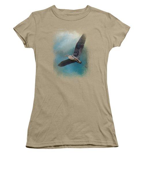 Heron In The Midst Women's T-Shirt (Junior Cut) by Jai Johnson
