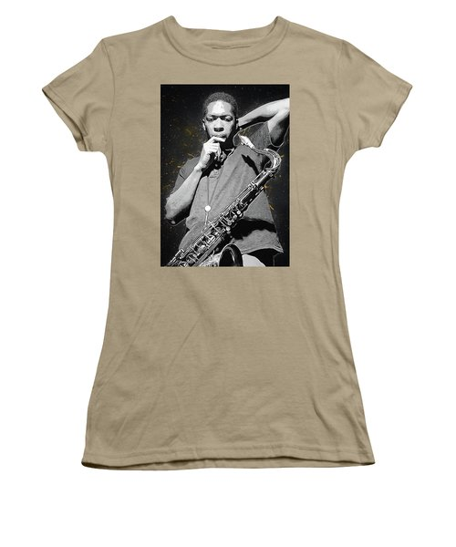 John Coltrane Women's T-Shirt (Junior Cut) by Semih Yurdabak