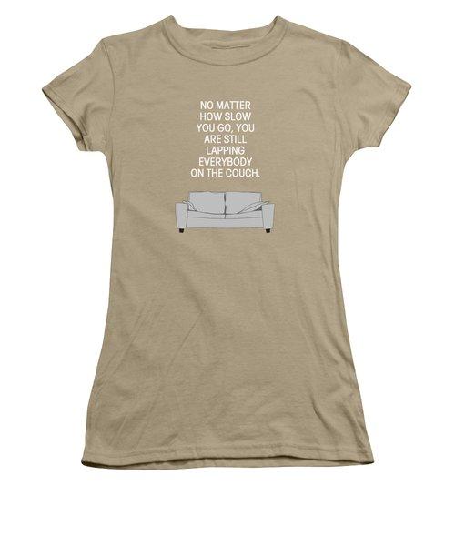Lap The Couch Women's T-Shirt (Junior Cut) by Nancy Ingersoll