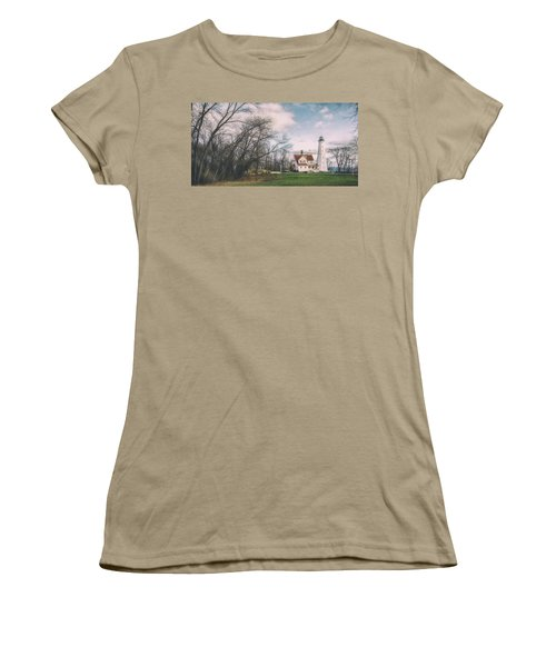 Late Afternoon At The Lighthouse Women's T-Shirt (Junior Cut) by Scott Norris