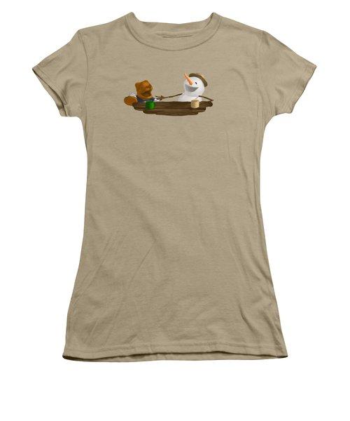 Laughter Women's T-Shirt (Junior Cut) by Jason Sharpe