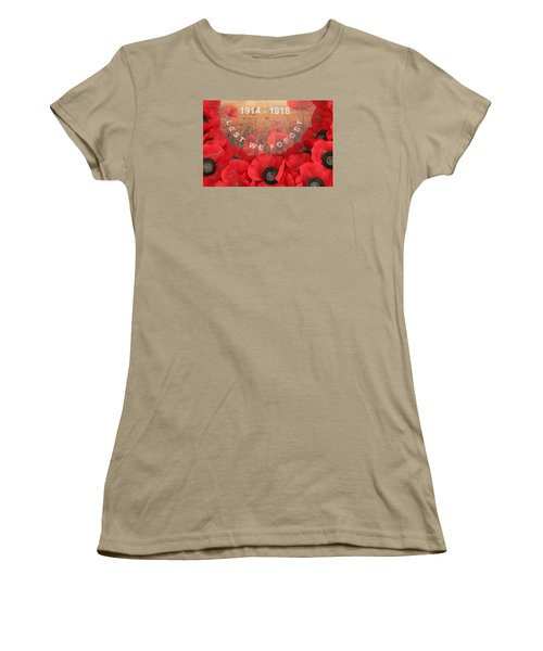 Women's T-Shirt (Junior Cut) featuring the photograph Lest We Forget - 1914-1918 by Travel Pics