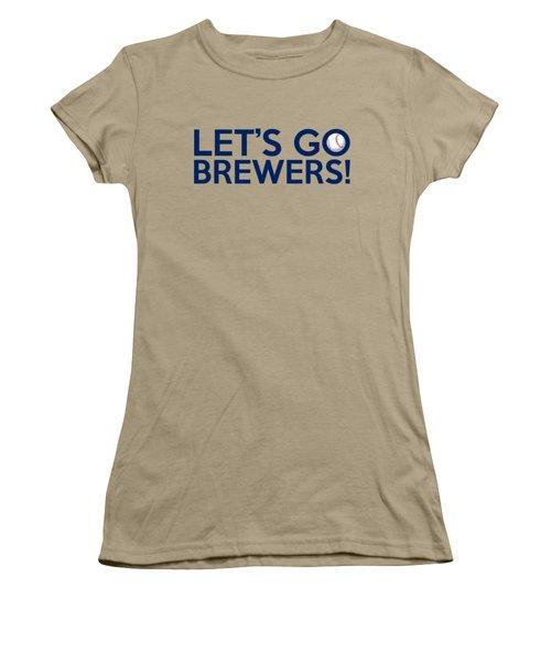 Let's Go Brewers Women's T-Shirt (Junior Cut) by Florian Rodarte