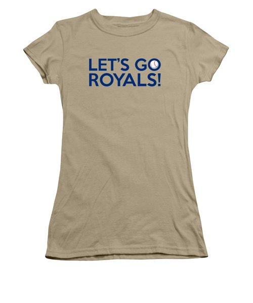 Let's Go Royals Women's T-Shirt (Junior Cut) by Florian Rodarte