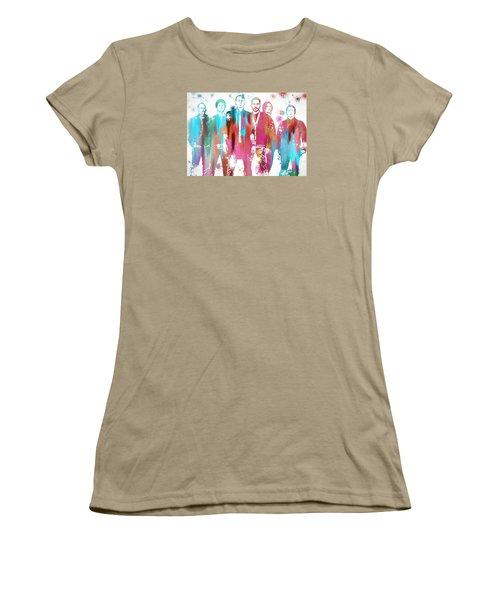 Linkin Park Watercolor Paint Splatter Women's T-Shirt (Junior Cut) by Dan Sproul