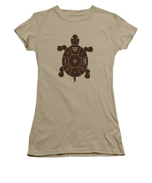 Lo Shu Turtle Women's T-Shirt (Junior Cut) by Thoth Adan