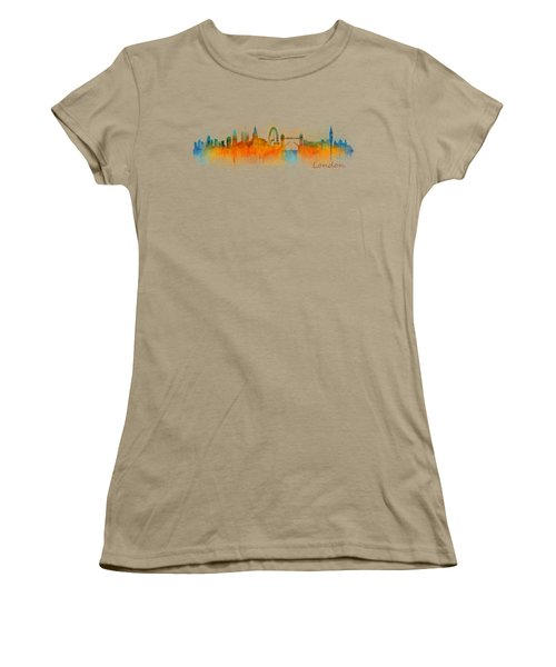 London City Skyline Hq V3 Women's T-Shirt (Junior Cut) by HQ Photo