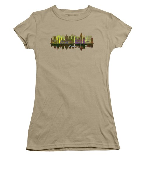 London England Skyline In Golden Light Women's T-Shirt (Junior Cut) by John Groves