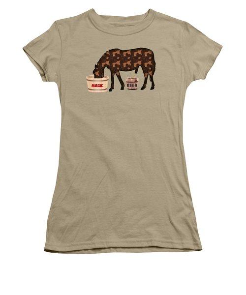 Magic Beer Women's T-Shirt (Junior Cut) by Goko Nikolovski